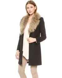 Sam. Crosby Coat  Black Natural - Lyst