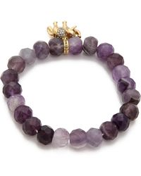 Juicy Couture - Pave Colour Crush Genuine Beaded Bracelet Amethyst - Lyst
