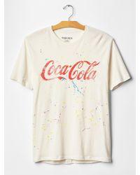 Gap Coca-Cola® Paint Splatter T-Shirt white - Lyst