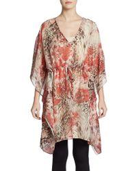 Grayse - Leo Floral-printed Silk Pool Top - Lyst