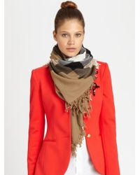 Burberry Color Check Square Scarf - Lyst