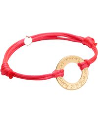 Merci Maman - 18ct Gold Plated Personalised Eternity Bracelet - Lyst