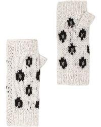 Autumn Cashmere Handknit Leopard Fingerless Gloves - Lyst
