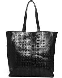 Asos Leather Weave Shopper Bag - Lyst