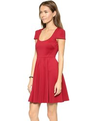 4.collective - Cap Sleeve Flirty Dress - Red - Lyst