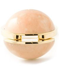 Chloé 'Ellie' Brass Oversized Ring - Lyst