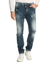 DSquared² Stone Washed Cool Guy Destroy Patched Jeans - Lyst