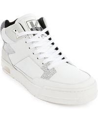 Kenzo Yard High-Top Sneakers With White Bubble Sole - Lyst