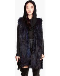 H&M Fake Fur Waistcoat - Lyst