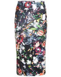 McQ by Alexander McQueen Festival Floral-print Skirt - Lyst