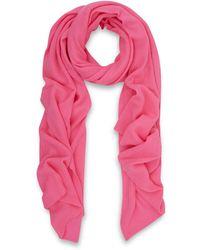 CASH CA - Pink Cashmere Scarf - Lyst