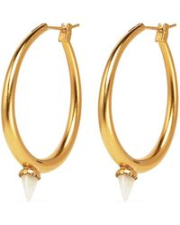 Ela Stone - 'jenny' Mini Jade Spike Hoop Earrings - Lyst