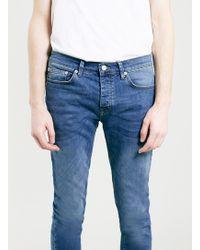 Topman Mid Wash Stretch Skinny Fit Jeans - Lyst