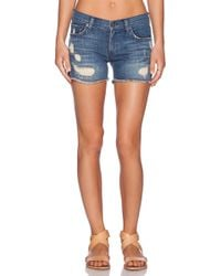 James Jeans Shorty Slouchy Fit Boy Short - Lyst