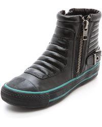 Ash Voxan High Top Sneakers Black - Lyst