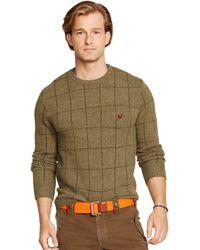 Polo Ralph Lauren Crewneck Windowpane Sweater - Lyst