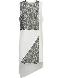 Robert Rodriguez Lace Panel Dress black - Lyst