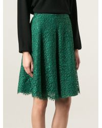 Ermanno Scervino Floral Lace Skirt - Lyst