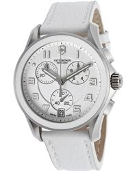 Swiss Army - Women's Chronograph White Dial White Genuine Leather - Lyst