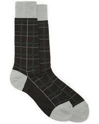 Vince Camuto Plaid Crew Sock - Lyst
