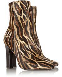Tamara Mellon Soho Leopard-Print Calf Hair Ankle Boots - Lyst