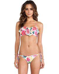Seafolly Geisha Bandeau Bikini Top - Lyst