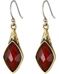 Lucky Brand Set Stone Drop Earring - Lyst