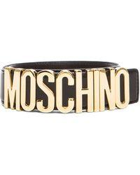Moschino Logo Belt - Lyst
