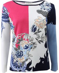 Etro Floral Print Sweater - Lyst