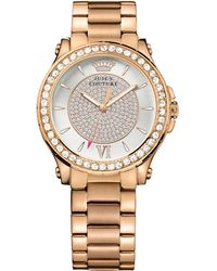Juicy Couture Women'S Pedigree Rose Gold Ion-Plated Steel Bracelet Watch 38Mm 1901233 - Lyst