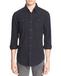 BLK DNM | 'jean Shirt 5' Extra Trim Fit Western Shirt | Lyst