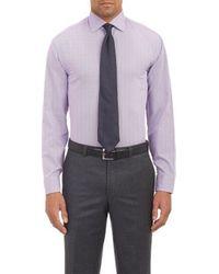 Armani Textured Dress Shirt - Lyst