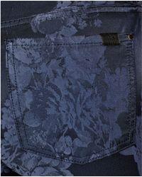 Jen7 - Nightfall Floral Jacquard Skinny Jeans - Lyst