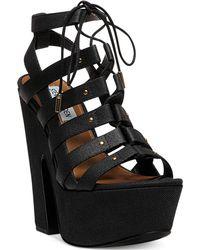 Steve Madden Womens Gagga Platform Wedge Sandals - Lyst