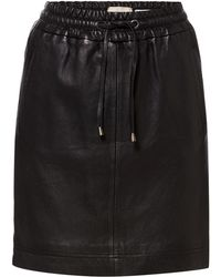 Linea Weekend - Drawstring Leather Skirt - Lyst