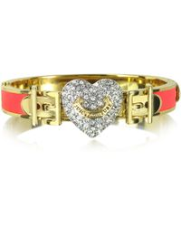 Juicy Couture - Pave Heart Neon Hinged Bangle - Lyst