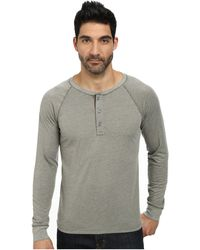 AG Adriano Goldschmied Commute Rag Henley gray - Lyst