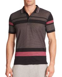 BOSS | Paddy Striped Mesh Polo | Lyst
