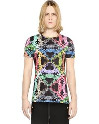 Versus  Baroque Printed Cotton Jersey T-Shirt - Lyst