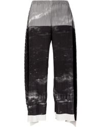 Issey Miyake Gray Pleated Trousers - Lyst