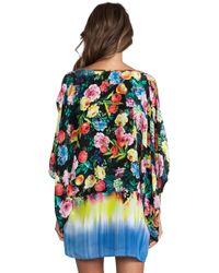 Seafolly Eden Kaftan Kimono in Black - Lyst