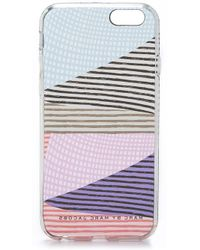 Marc By Marc Jacobs Stripe Mash Up Iphone 6 Case - Clear Multi multicolor - Lyst