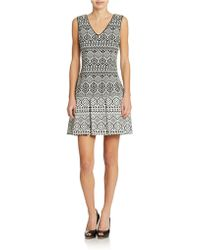 Jessica Simpson Tribal-Inspired Fit-And-Flare Dress - Lyst
