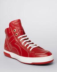 Ferragamo Nicky High Top Sneakers - Lyst