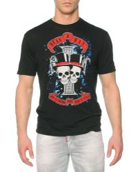 DSquared² Skull-Graphic Jersey T-Shirt - Lyst