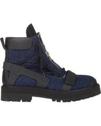 Hood By Air - Double-Zip Avalanche Boots-Blue Size 9 - Lyst