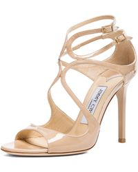 Jimmy Choo Lang Leather Heeled Sandals - Lyst