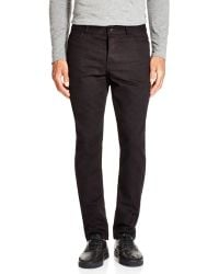 T By Alexander Wang - Leather Pocket Slim Fit Jeans - Lyst