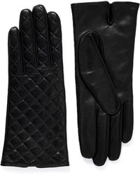 Maison Fabre 'Gabrielle' Quilted Lamb Leather Gloves black - Lyst