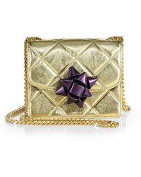 Marc Jacobs Trouble Mini Party-bow Metallic Crossbody Bag - Lyst